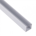 Profil Aluminium LINE 2m klosz mleczny- profil biały