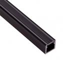 Profil Aluminium LINE 2m klosz mleczny - profil czarny