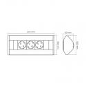 CORNER BOX - przedłużacz meblowy 230 V AC