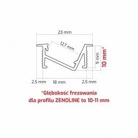 Profil aluminiowy ZENOLINE 2 M rysunek techniczny