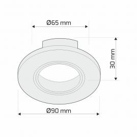 Oprawa sufitowa okrągła kryształ - RINGO rysunek techniczny