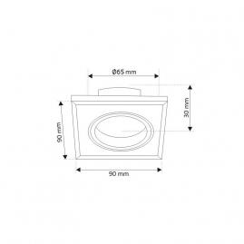ZESTAW LED MARS- ŻARÓWKA 5W GU10 + OPRAWKA GU10 - rysuenk techniczny