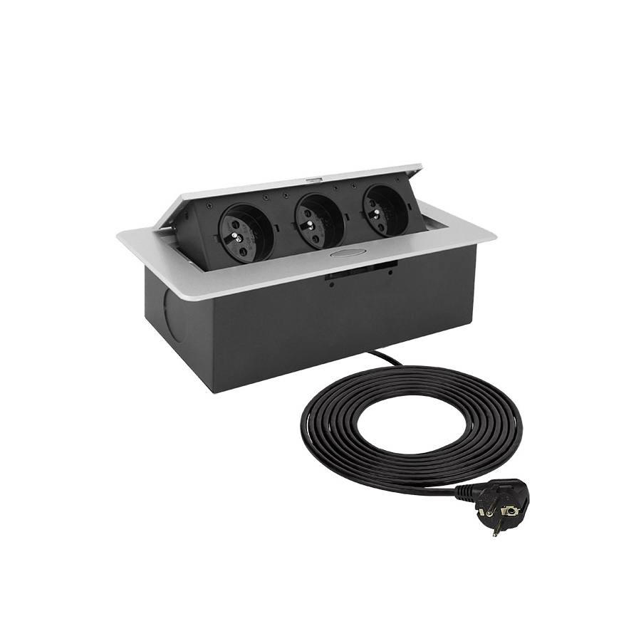KOMBI BOX - Gniazdo meblowe  czarne