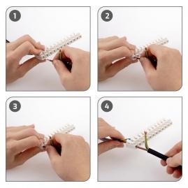 Złączka 2-torowa do przewodów 0,5-2,5 mm2