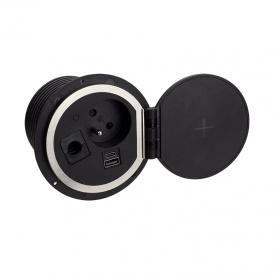 SAMBO BOX USB gniazdo meblowe francuskie   z ładowarką indukcyjną