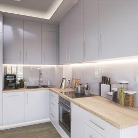 TAŚMA PREMIUM 60 LED/m typ 2835 - IP20, 30W aranżacja jasnej kuchni