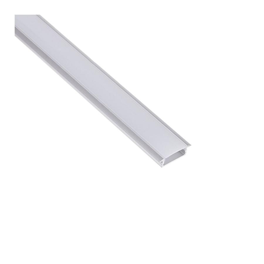 Profil aluminiowy INLINE Z 2 m klosz opal