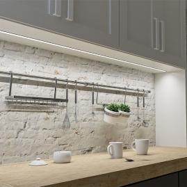 Profil aluminiowy INLINE Z 2 m aranżacja kuchni widok podszafkowy
