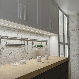 Profil aluminiowy INLINE Z 2 m aranżacja widok kuchni