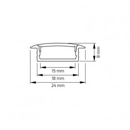 Profil aluminiowy INLINE Z 2 m wymiar