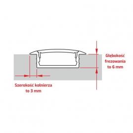 Profil aluminiowy INLINE Z 2 m szerokość kołnierza