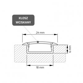 Profil aluminiowy INLINE Z 2 m rysunek techniczny