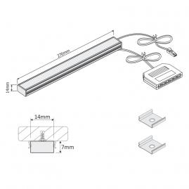 MASTER LED 4W - listwa LED - oprawa podszafkowa