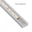 Profil nawierzchniowy  aluminium  LINE MINI 2m klosz przezroczysty