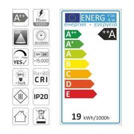 etykieta energetyczna 19W/m taśma Premium czarne PCB