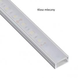 Profil nakładany aluminium LINE MINI 1m klosz mleczny