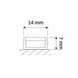 Profil nawierzchniowy  aluminium LINE MINI 1m rysunek techniczny