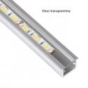 Profil aluminiowy INLINE 2m klosz mleczny