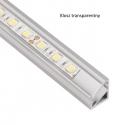 Profil nawierzchniowy aluminium TRI-LINE MINI 2m klosz transparentny