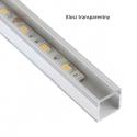 Profil nawierzchniowy aluminiowy  LINE 1m klosz transparentny