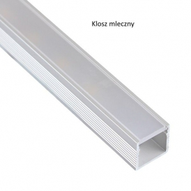 Profil nawierzchniowy aluminiowy  LINE 1m klosz mleczny
