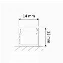 Profil nawierzchniowy aluminiowy  LINE 1m rysunek techniczny