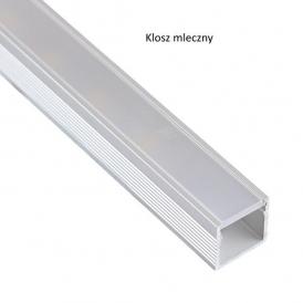 Profil Aluminium LINE 2m klosz mleczny