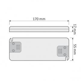PŁASKI ZASILACZ Flat DO LED 30W- rysunek techniczny