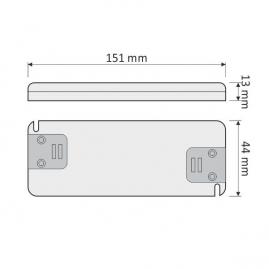 PŁASKI ZASILACZ Flat do LED 15W- rysunek techniczny