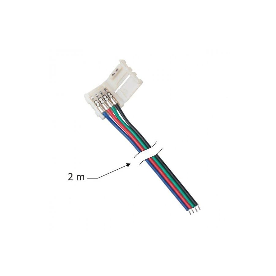 PRZEWÓD DO TAŚM LED RGB O SZEROKOŚCI 10 mm