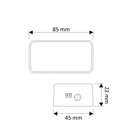 STEROWNIK LED RGB  RF  rysunek techniczny