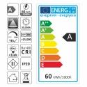 TAŚMA PREMIUM 600 LED typ 2835 - IP20, 60W- etykieta  energetyczna