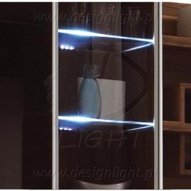 KLIPS LED METALOWY- ZESTAW 2 PKT.- podświetlenie Led szafek, witryn, mebli