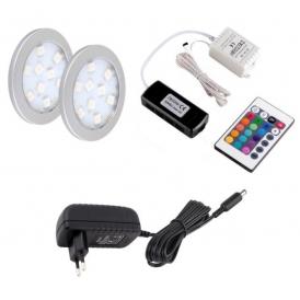 OPRAWA LED ORBIT RGB, ZESTAW podszafkowy Led