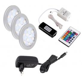 OPRAWA LED ORBIT RGB, ZESTAW 3 PKT.- Sterownik Led RGB i pilot IR
