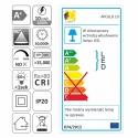 Oprawa stropowa IP20 LED APOLLO 10W etykieta energetyczna