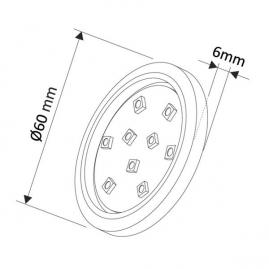 OPRAWA LED ORBIT, ZESTAW 3pkt- rysunek techniczny