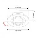 Oprawa sufitowa uchylna  - BRAVA rysynek techniczny