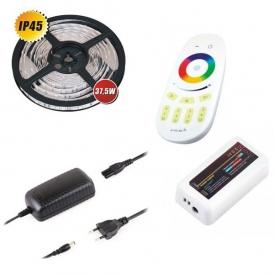 ZESTAW TAŚMA RGB 150 LED, IP45+STEROWNIK, PILOT I ZASILACZ
