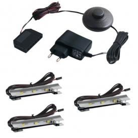 KLIPS LED METALOWY, ZESTAW 2 PKT.