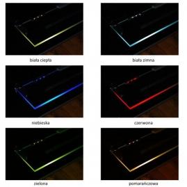KLIPS LED METALOWY, ZESTAW 4 PKT.- różne barwy światła. efekty świetlne