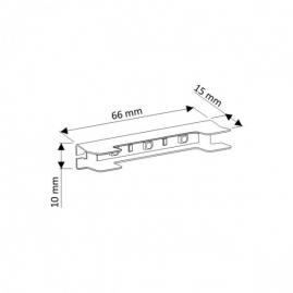 KLIPS LED METALOWY, ZESTAW 4 PKT.- rysunek techniczny