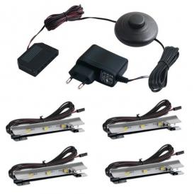 KLIPS LED METALOWY, ZESTAW 4 PKT.- gotowy zestaw Led