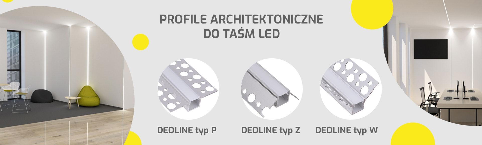 PROFILE ALUMINIOWE LED ARCHITEKTONICZNE